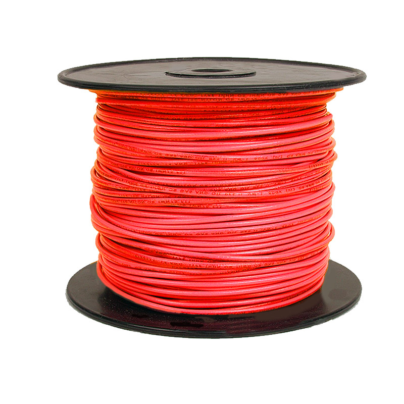 Red 14 Gauge Solid Wire-single conductor-500 foot roll - Sierra ...