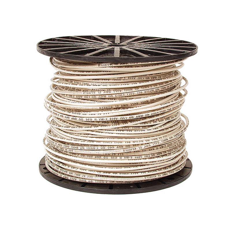 White 14 Gauge Solid Wire-single conductor-500 foot roll - Sierra ...